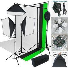 "ESDDI 20""X28"" Soft Box Photography Lighting Kit 800W Continuous Lighting System Photo Studio Equipment Photo Model Portraits Shooting Box 2pcs E27 Video Lighting Bulb"