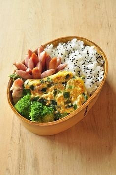 Egg and Sausage Bento Cute Food, Good Food, Yummy Food, Bento Recipes, Le Diner, Food Goals, Aesthetic Food, Asian Recipes, Healthy Dinner Recipes