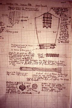 Medici Archive- J. Arnold's sleeve notes/diagrams for the Dutch cloak w/sleeves.