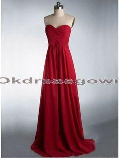 Elegant Sweet Heart Simple Affordable Burgundy prom dress with Full Length