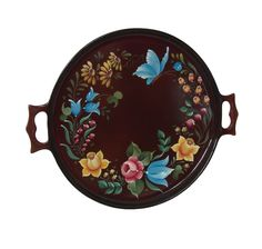 Bauernmalerei, Tray painted by Hatice Okan