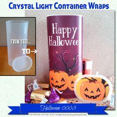 Halloween Crystal Light Container wrappers, pumpkins, Happy Halloween #0004…