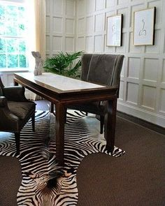 OutSourceSol is a trusted & leading worldwide supplier of Zebra skin rug & Zebra Ottoman. Each Zebra rug is graded and inspected in the U.S to assure a quality zebra hide rug. Zebra Skin Rug, Zebra Rugs, Interior Decorating, Interior Design, Dining Bench, Ottoman, Profile Design, The Originals, Table