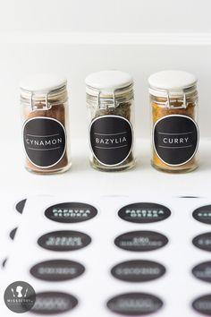 Etykiety na przyprawy do wydrukowania