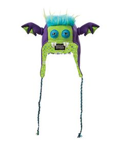 Another great find on #zulily! Beasty Buddies Purple Bumblezor Monster Earflap Beanie by Beasty Buddies #zulilyfinds