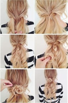 Fast hairstyles in five minutes a photo of the idea of a simple hairstyle - short hair hairstyles - Fast hairstyles in five minutes a photo of the idea of a simple hairstyle - Braided Hairstyles Updo, Fast Hairstyles, Hairstyles With Bangs, Trendy Hairstyles, Hairstyle Short, Hairdos, Short Hair, Mid Length Hair, Cool Braids