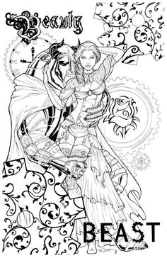 Grimm Beauty And The Beast Coloring Page