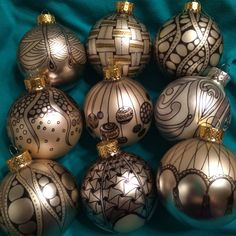 Tangled ornaments tutorial by CZT Anna Houston