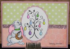 Easter Bunny Artist - Just For Fun Rubber Stamps