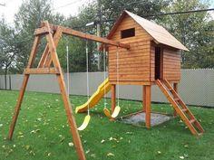 Module de jeux on pinterest kids outdoor playhouses for Module de jeu exterieur