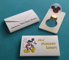 My Mickey Light - LED credit card light - Great Fish Extender (FE) Gift! on Etsy, $1.50