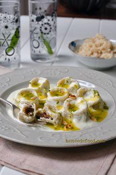 Shish barak - lebanese dumplings - look so yummy - but some work to do
