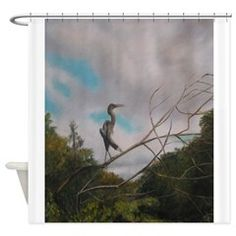 ON SILVER RIVER Shower Curtain