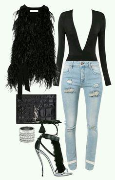 31b42eaa80  Faux fur   winter outfit❤ Black Women Style