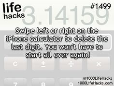 1000 Life Hacks--This actually works; just swipe across the numbers and one number comes off each time.