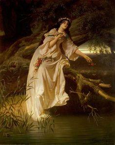 Ophelia by Ferdinand Piloty.