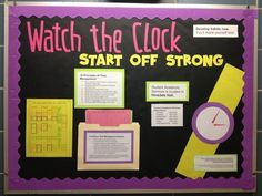 Watch The Clock Time Management Bulletin Board Idea