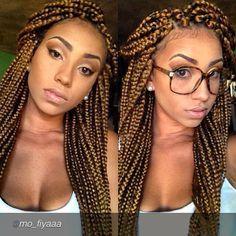 Honey colored box braids