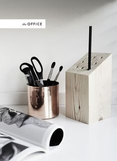 wood pencil holder diy