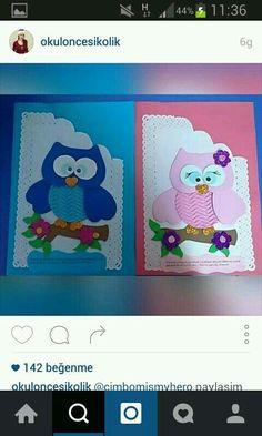 Folder Decorado, Diy And Crafts, Crafts For Kids, Art Folder, Owl Patterns, Paper Gifts, Art Plastique, Preschool Activities, Envelopes