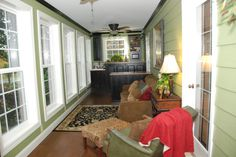 enclosed porch into a laundry room