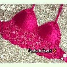 * Pérolas do Crochet: Croppeds / tops e crochet