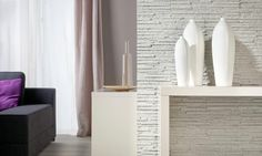 Palermo White Stone Cladding Wall Tiles - Outdoor/Indoor use - Deco Stones Precast Concrete Panels, Concrete Interiors, Stone Interior, Stone Cladding, 3d Wall Panels, White Tiles, Office Interior Design, White Stone, Custom Furniture