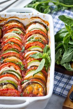 This Ratatouille recipe comes together quickly for a fresh weeknight dinner. It's a light & fresh dish that's gluten free, vegan, and paleo. Plus, it freezes well - so go ahead and make a double batch!