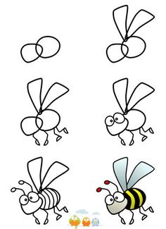 How to draw a bee/wasp