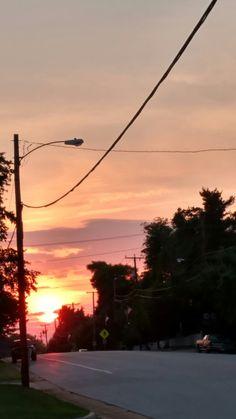 Sunset on King Street Keysville Virginia