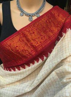 Cotton Saree Blouse, Saree Blouse Patterns, Saree Dress, Saree Blouse Designs, Indian Attire, Indian Wear, Indian Dresses, Indian Outfits, Saree Jewellery