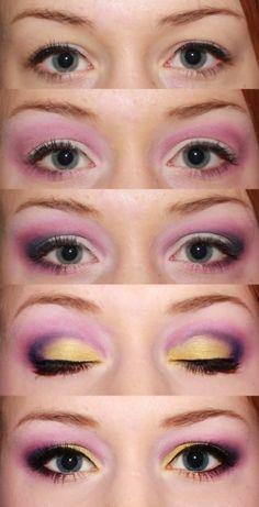 Makeup: Pink, purple, gold eyeshadow tutorial