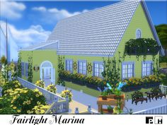 This stunning yellow sea shack is just waiting for your sim to move in! One bedroom and one bathroom (in the attic) and this house is sea worthy of any sim or sim couple. Open planned downstairs...