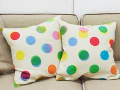 Pillow with dots