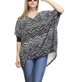 Love this Gray Geometric Dolman Top - Plus on #zulily! #zulilyfinds
