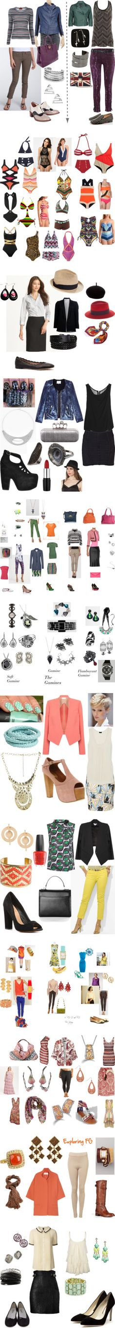 """Kibbe Flamboyant Gamine: ""Vibrant and Exciting."""" by in-vero-pulcritudo on Polyvore"