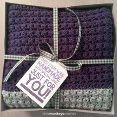 Comfy Squares Textured Blanket Crochet Pattern | Free Lap Blanket Crochet Pattern by Little Monkeys Crochet