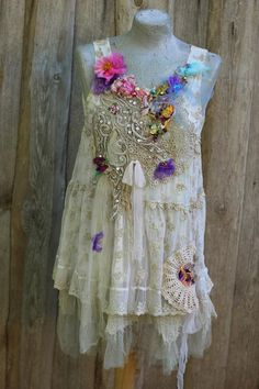 Summer breeze top II shabby chic whimsy bohemian top