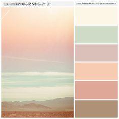 Pastel Beach Landscape Color Palette Paint Inspiration Paint
