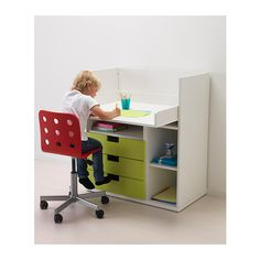 STUVA Changing table/desk  - IKEA.  Too wide, but something like this for Madison's room - could cut down one side?