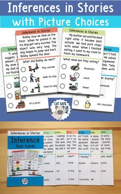 Inferences in Stories with Picture Choices (speech therapy, special ed, prek)