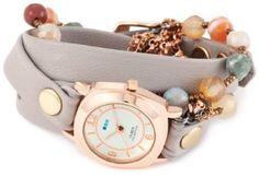 La Mer Collections Women's LMMULTI2000 Brazil Stones Chain Wrap Watch: Watches: Amazon.com