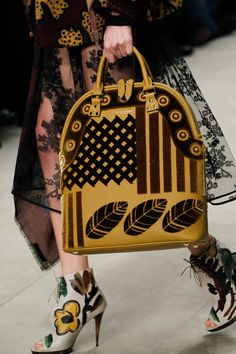 Mix-pattern theory with Burberry Prorsum's Fall 2014 runway handbags. #rtw