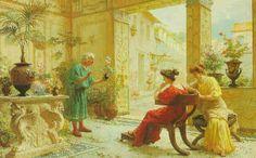 Ettore Forti - The flower seller