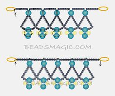 Free pattern for necklace Protaras (Beads Magic)
