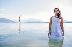 Portrait of a Bride in Water, almost like a Trash the dress shooting :-) Bridal Portraits, One Shoulder, Bride, Formal Dresses, Water, Fashion, Nice Asses, Wedding Bride, Dresses For Formal