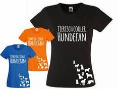 Fan-Shirts für HundefreundeT-Shirt Damen: Hundefan Kollektion, weiss, S…
