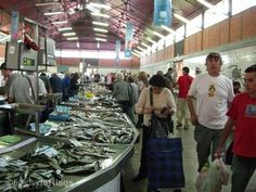 Olhao's busy fish market