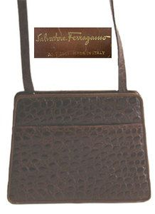 66f643b21cd8 Ferragamo Alligator Embossed Designer Handbag Cheap Designer Purses