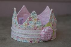Fabric Crown  Princess Alexa by saflower on Etsy, $23.00